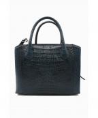 RODANIA(ロダニア)の古着「カイマンワニ革ハンドバッグ」|ネイビー