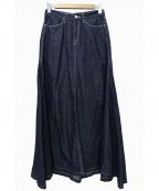 woadblue(ウォードブルー)の古着「デニムマキシスカート」|インディゴ