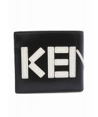 KENZO(ケンゾー)の古着「Leather Logo Billfold Wallet」|ブラック×ホワイト