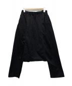 BLACK COMME des GARCONS(ブラックコムデギャルソン)の古着「ポリエステル縮絨サルエルパンツ」|ブラック