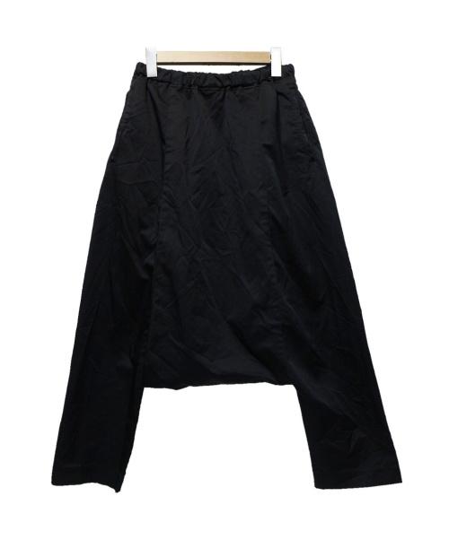 BLACK COMME des GARCONS(ブラックコムデギャルソン)BLACK COMME des GARCONS (ブラックコムデギャルソン) ポリエステル縮絨サルエルパンツ ブラック サイズ:Mの古着・服飾アイテム