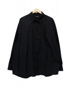 BALENCIAGA(バレンシアガ)の古着「ポケット刺繍オーバーサイズシャツ」|ブラック