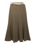 Noble(ノーブル)の古着「MINAニットマーメイドスカート」 ベージュ