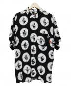 Supreme×Undercover(シュプリーム×アンダーカバー)の古着「Public Enemy Rayon Shirt」|ホワイト×ブラック