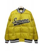 Supreme(シュプリーム)の古着「Script Varsity Puffy Jacket」|イエロー