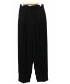 6(ROKU) BEAUTY&YOUTH(ロク ビューティアンドユース)の古着「GEORGETTE TUCK PANTS」 ブラック