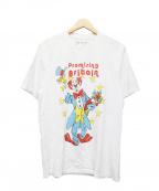 MARTINE ROSE(マーティン ローズ)の古着「ピエロアートワークTシャツ」 ネイビー