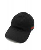 GUCCI(グッチ)の古着「GGキャンバスベースボールキャップ」|ブラック
