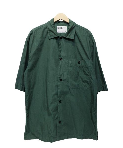 MARGARET HOWELL(マーガレットハウエル)MARGARET HOWELL (マーガレットハウエル) COMPACT COTTON POPLIN グリーン サイズ:XLの古着・服飾アイテム