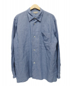 MARGARET HOWELL(マーガレットハウエル)の古着「リネンシャツ」|スカイブルー