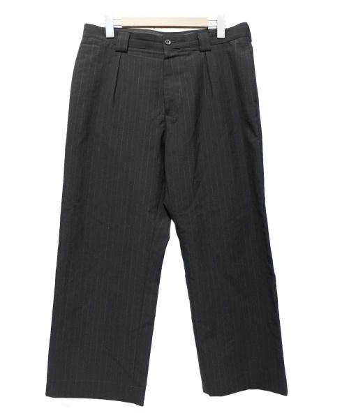MARGARET HOWELL(マーガレットハウエル)MARGARET HOWELL (マーガレットハウエル) COLOURED STRIPE WOOL TROPICAL ブラック サイズ:XLの古着・服飾アイテム