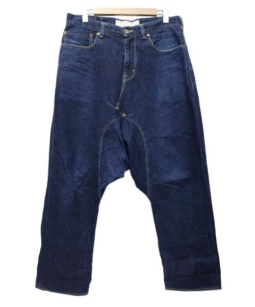 GANRYU(ガンリュウ)GANRYU (ガンリュウ) サルエルデニムパンツ インディゴ サイズ:Lの古着・服飾アイテム