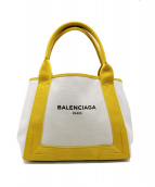 BALENCIAGA(バレンシアガ)の古着「カバストートバッグ」|イエロー
