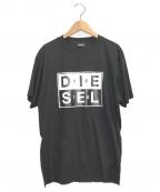 DIESEL()の古着「ロゴプリントTシャツ」|ブラック