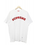 Supreme(シュプリーム)の古着「Plaid Applique S/S Tee」|ホワイト