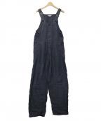 ordinary fits(オーディナリーフィッツ)の古着「リネンオーバーオール」|グレー