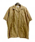 Pilgrim Surf+Supply(ピルグリム サーフ+サプライ)の古着「Haden SS Guayabera Shirt」 ブラウン