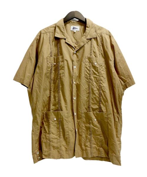 Pilgrim Surf+Supply(ピルグリム サーフ+サプライ)Pilgrim Surf+Supply (ピルグリム サーフ+サプライ) Haden SS Guayabera Shirt ブラウン サイズ:XLの古着・服飾アイテム