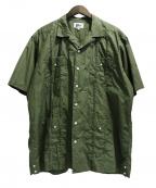 Pilgrim Surf+Supply(ピルグリム サーフ+サプライ)の古着「Haden SS Guayabera Shirt」 グリーン