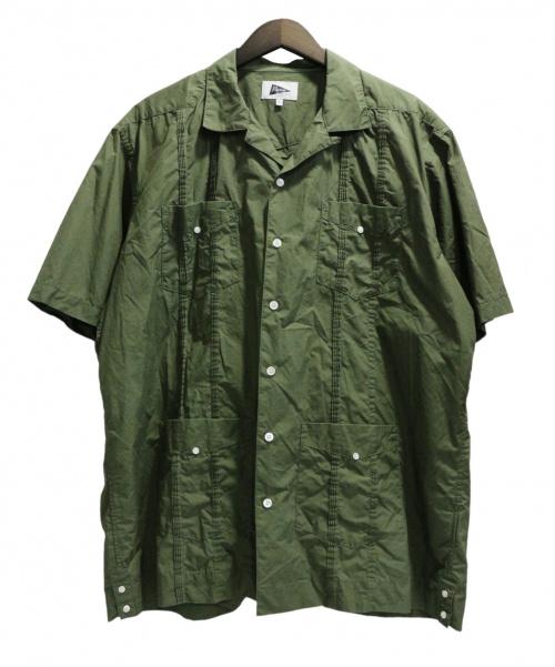Pilgrim Surf+Supply(ピルグリム サーフ+サプライ)Pilgrim Surf+Supply (ピルグリム サーフ+サプライ) Haden SS Guayabera Shirt グリーン サイズ:XLの古着・服飾アイテム