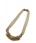 MIRIAM HASKELL(ミリアムハスケル)の古着「パール装飾ネックレス」|ゴールド