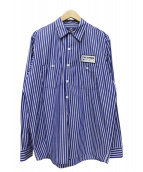 FREAK'S STORE(フリークスストア)の古着「ストライプシャツ」|ホワイト×ブルー