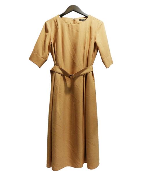 ReFLEcT(リフレクト)ReFLEcT (リフレクト) ベルト付美シルエットワンピース イエロー サイズ:11の古着・服飾アイテム