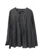 Liesse(リエス)の古着「スキッパーブラウス」|グレー