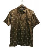 THE HYSTERIC XXX(ジィ ヒステリックトリプルエックス)の古着「総柄シャツ」 ブラウン