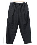 yoshio kubo(ヨシオクボ)の古着「TWILL TUCK PANTS」|ブラック
