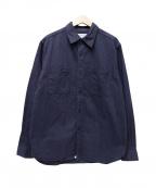 SASSAFRAS(ササフラス)の古着「ヘンボーンワークシャツ」 ネイビー