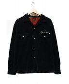 TENDERLOIN(テンダーロイン)の古着「コーデュロイウエスタンシャツ」|ブラック