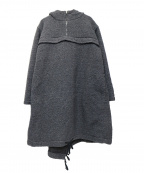COMME des GARCONS SHIRT BOY(コムデギャルソンシャツ ボーイ)の古着「ボアフーデッド プルオーバー コート」 グレー