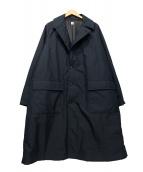 KAPTAIN SUNSHINE(キャプテン サンシャイン)の古着「プリマロフトバルカラーコート」|ブラック