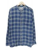 REMI RELIEF(レミレリーフ)の古着「バンドカラーシャツ」|ネイビー