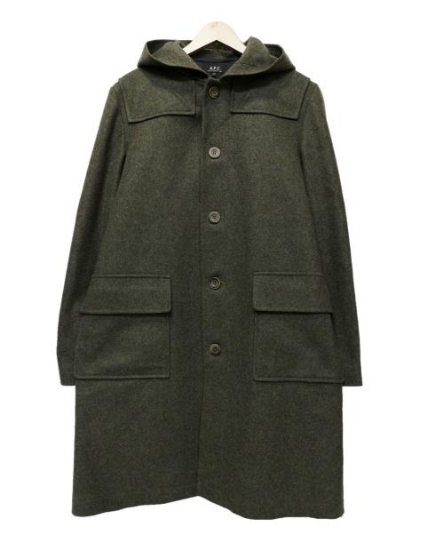 A.P.C.(アーペーセー)A.P.C. (アーペーセー) ウールコート グリーン サイズ:Sの古着・服飾アイテム