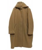 ELIN(エリン)の古着「メルトンチャンキーカラーコート」|ブラウン
