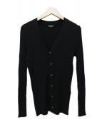 VERMEIL par iena(ヴェルメイユ パー イエナ)の古着「ONTARIO Rib Vネックカーデ」|ブラック