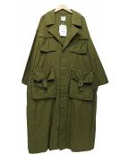 Ameri VINTAGE(アメリヴィンテージ)の古着「ARMY POCKET LONG COAT」|オリーブ