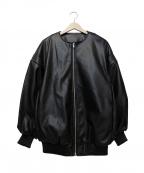 SLY(スライ)の古着「FAUX LEATHER BZ」|ブラック