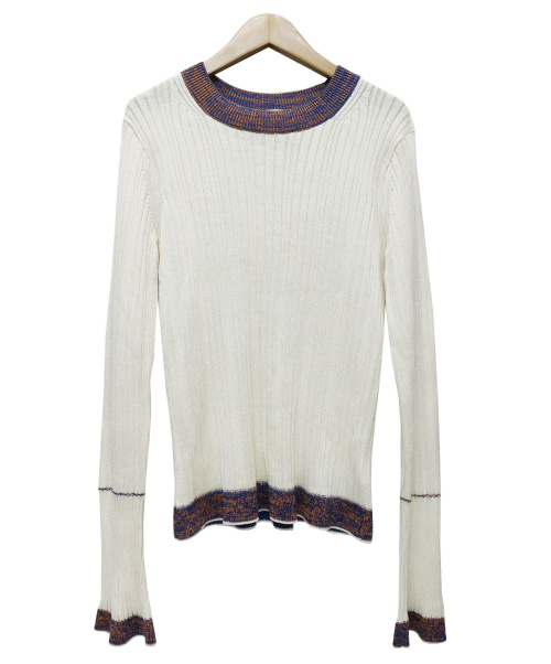 beautiful people(ビューティフルピープル)beautiful people (ビューティフルピープル) linen like finish silk rib pul ホワイト サイズ:36の古着・服飾アイテム