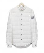 MONCLER GAMME BLEU(モンクレール ガム ブルー)の古着「ダウンシャツジャケット」|ホワイト