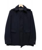 JOSEPH HOMME(ジョセフオム)の古着「ジロンウールカシミヤフードコート」|ネイビー