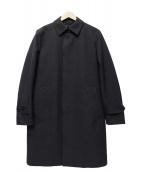 JOSEPH HOMME(ジョセフオム)の古着「ハウンドトゥースラミネーションコート」|グレー