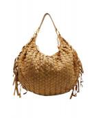 MIU MIU(ミュウミュウ)の古着「編み込み2WAYショルダーバッグ」|ベージュ