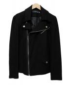 DSQUARED2(ディースクエアード)の古着「コットンライダースジャケット」|ブラック