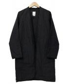VISVIM(ヴィスヴィム)の古着「WMV SANJURO COAT W」|ブラック