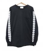 KUON(クオン)の古着「サイド刺子切替カットソー」|ブラック