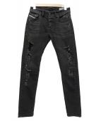 DIESEL(ディーゼル)の古着「SLEENKER」|ブラック