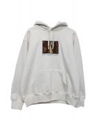 Supreme(シュプリーム)の古着「Enterprises Hooded Sweatshirt」 ベージュ